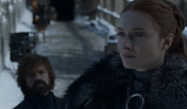 Sansa Tells Tyrion Jon's Secre... is listed (or ranked) 7 on the list Everything That Happened In 'Game Of Thrones' Season 8, Episode 4: 'The Last Of The Starks'