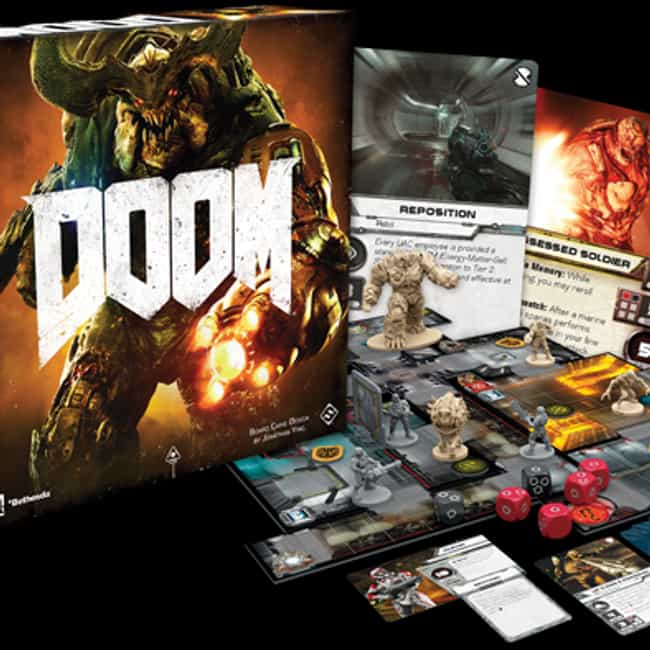 DOOM: The Board Game is listed (or ranked) 2 on the list 16 Of The Best Video Game-Based Board Games