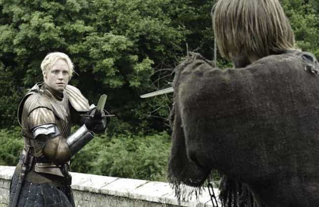 She Beats Jaime Lannister In A... is listed (or ranked) 4 on the list A Complete Timeline Of How Brienne Of Tarth Became One Of The Greatest Heroes In Westerosi History