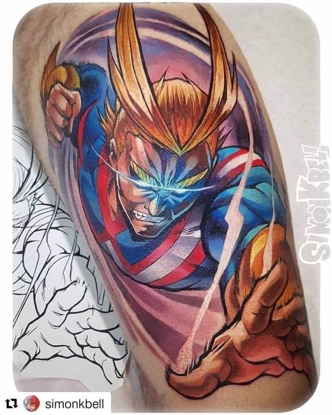 We Really Wouldn't Want To Fig... is listed (or ranked) 4 on the list The 25 Best My Hero Academia Tattoos Ever Inked