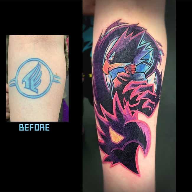 A Crazy Cover Up! is listed (or ranked) 2 on the list The 25 Best My Hero Academia Tattoos Ever Inked