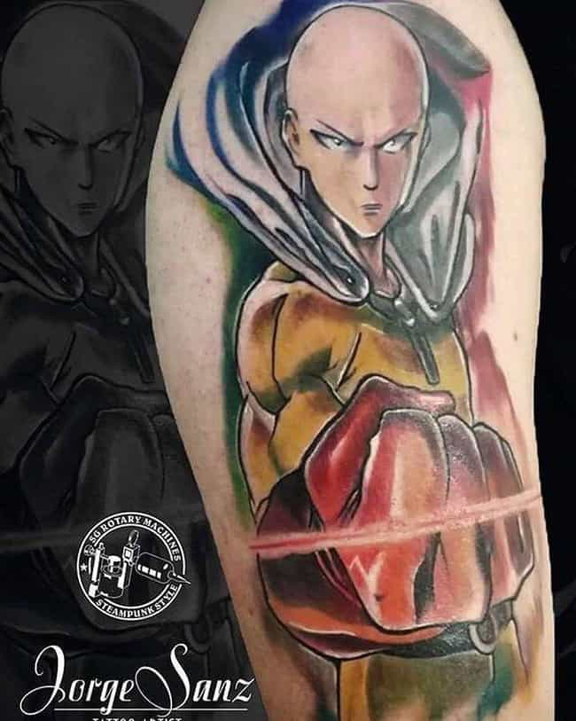 Getting Ready For The Punch is listed (or ranked) 2 on the list The 25 Best One Punch Man Tattoos Ever Inked
