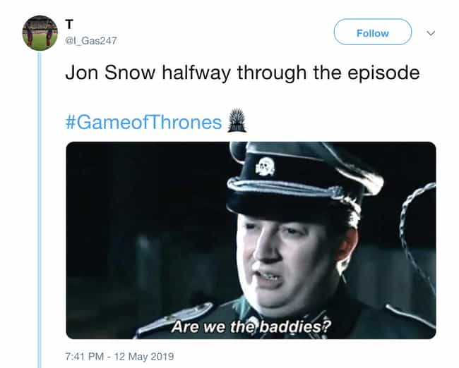 You Either Die A Hero Or... is listed (or ranked) 5 on the list Negative Twitter Reactions To 'Game Of Thrones'' Penultimate Episode