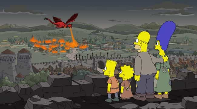 Daenerys Lays Waste To A... is listed (or ranked) 4 on the list 29 Simpsons Jokes That Actually Came True