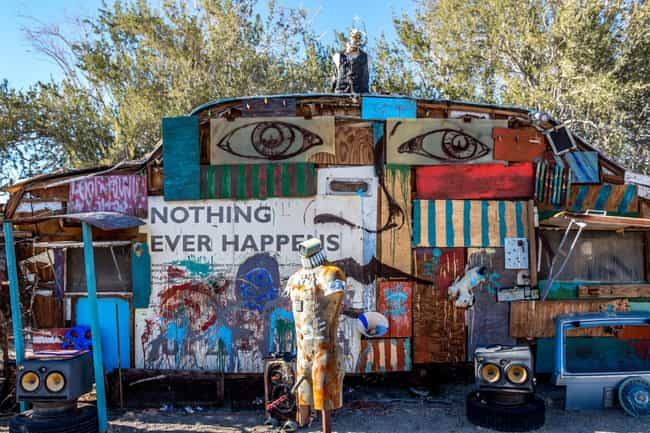 Residents And Traveling Artist... is listed (or ranked) 3 on the list Inside East Jesus, One Of Slab City's Most Famous Communes