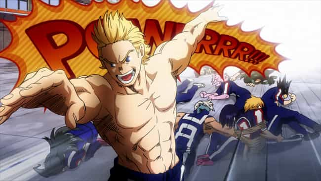 Mirio Togata Shocks Class 1-A ... is listed (or ranked) 4 on the list The 12 Most One-Sided Anime Fights That Weren't Even Close