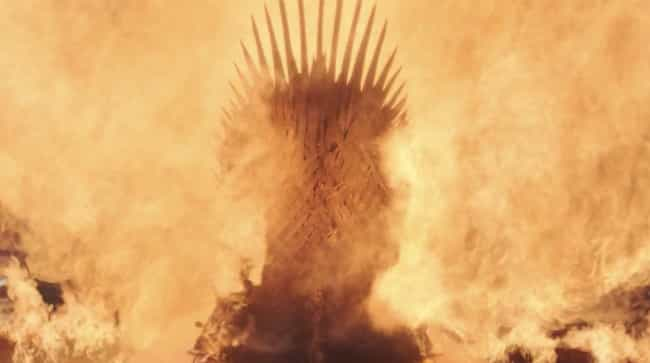 Drogon Melts The Iron Throne is listed (or ranked) 2 on the list Everything That Happened In The 'Game Of Thrones' Series Finale