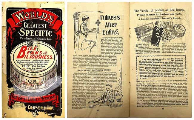 1900s: Tapeworms, Bile Beans, ... is listed (or ranked) 1 on the list What Health Nuts Ate In Every Decade Since The Turn Of The 20th Century