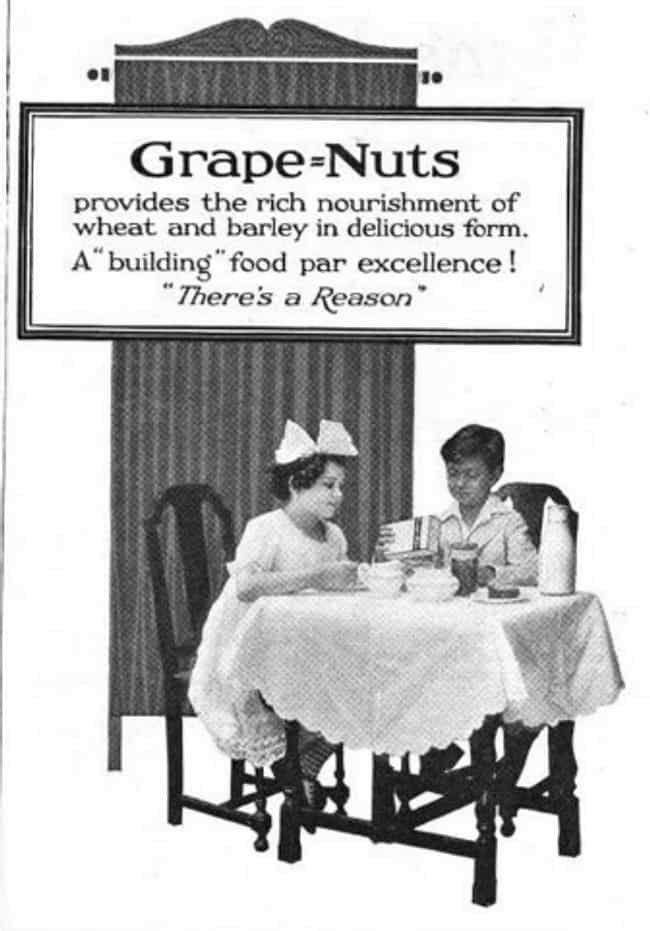 1920s: Canned Tuna, Grape Nuts... is listed (or ranked) 3 on the list What Health Nuts Ate In Every Decade Since The Turn Of The 20th Century