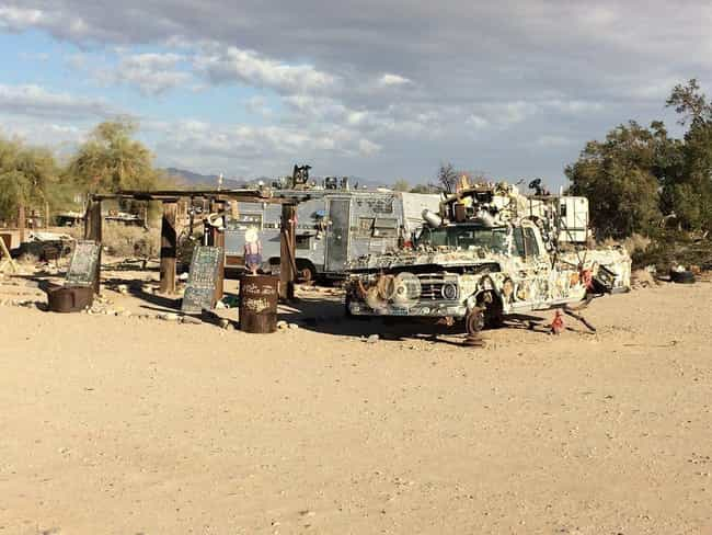 There Aren't Any Grocery Store... is listed (or ranked) 4 on the list What It's Actually Like To Live In Slab City