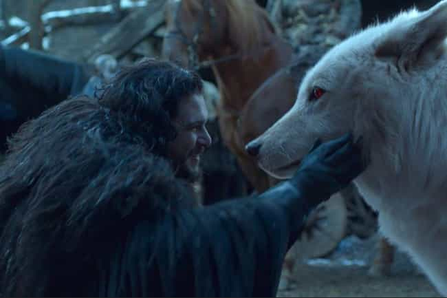 Jon Reunites With Ghost is listed (or ranked) 3 on the list 14 Moments From 'Game Of Thrones'' Final Season We Loved