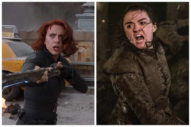 Black Widow - Arya Stark is listed (or ranked) 3 on the list Who Would The Avengers Play On 'Game Of Thrones'?