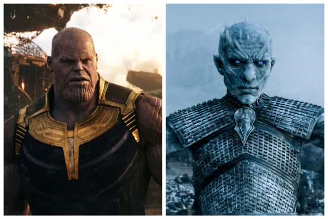 Thanos - The Night King is listed (or ranked) 2 on the list Who Would The Avengers Play On 'Game Of Thrones'?