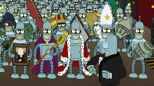 Bender Is Over 100,000 Years O... is listed (or ranked) 3 on the list Fan Theories About Bender From 'Futurama'