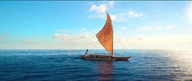 Moana's Boat Is A Gift From Th... is listed (or ranked) 4 on the list 'Moana' Fan Theories That Might Just Be Right