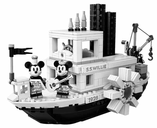 Steamboat Willie is listed (or ranked) 3 on the list The Best Disney LEGO Sets
