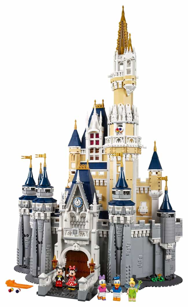 The Disney Castle is listed (or ranked) 1 on the list The Best Disney LEGO Sets