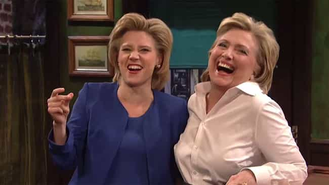 Hillary Clinton Mentions McKin... is listed (or ranked) 4 on the list All The Evidence Kate McKinnon Is An All-Time Great 'SNL' Cast Member