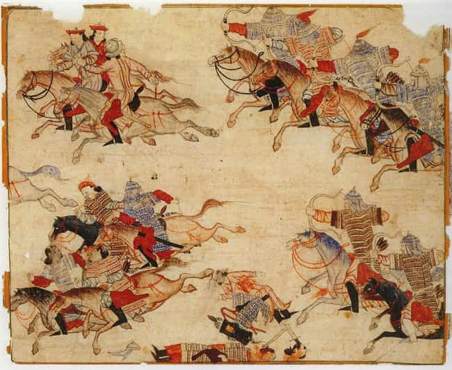 Though Destructive, They Estab... is listed (or ranked) 2 on the list How The Mongol Empire Simultaneously Destroyed And Improved The Known World
