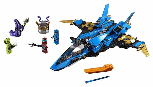 Jay's Storm Fighter is listed (or ranked) 4 on the list The Best Ninjago LEGO Sets