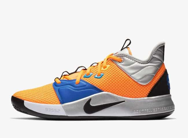 """Nike PG 3 """"NASA"""" is listed (or ranked) 4 on the list The Best PG 3 Colorways, Ranked"""