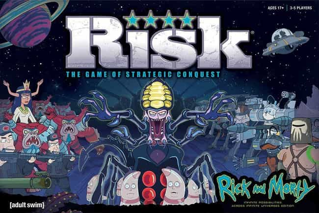 Risk: Rick and Morty is listed (or ranked) 4 on the list The Schwiftiest 'Rick and Morty' Board Games To Play Right Now