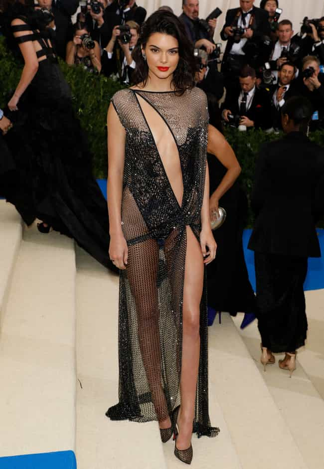 Kendall Jenner (2017) is listed (or ranked) 2 on the list All Kardashian & Jenner Met Gala Dresses, Ranked
