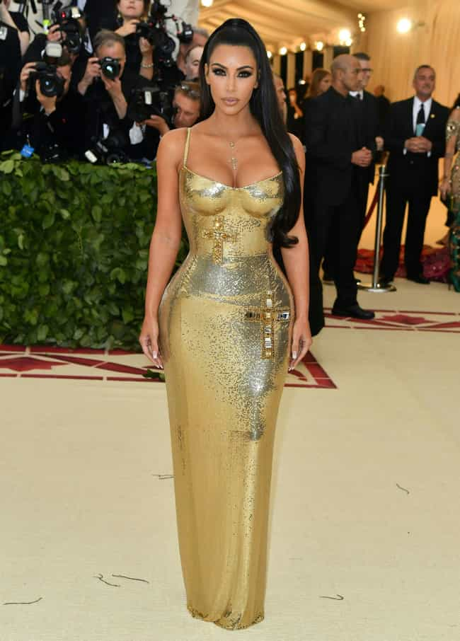 Kim Kardashian (2018) is listed (or ranked) 4 on the list All Kardashian & Jenner Met Gala Dresses, Ranked