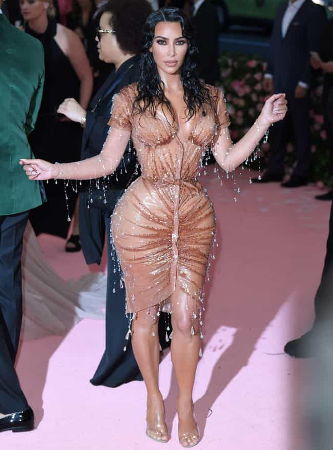 Kim Kardashian (2019) is listed (or ranked) 1 on the list All Kardashian & Jenner Met Gala Dresses, Ranked
