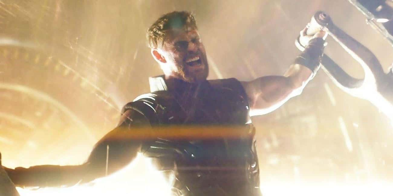 Thor Holds Open The Iris On Ni is listed (or ranked) 1 on the list The Most Impressive Feats Of Strength In The MCU, Ranked