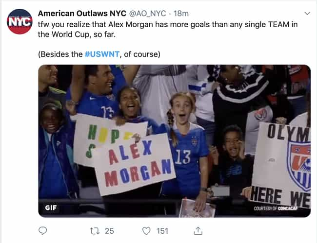 Alex Morgan Is A Beast is listed (or ranked) 2 on the list Reactions To The US Women's Soccer Team Making World Cup History