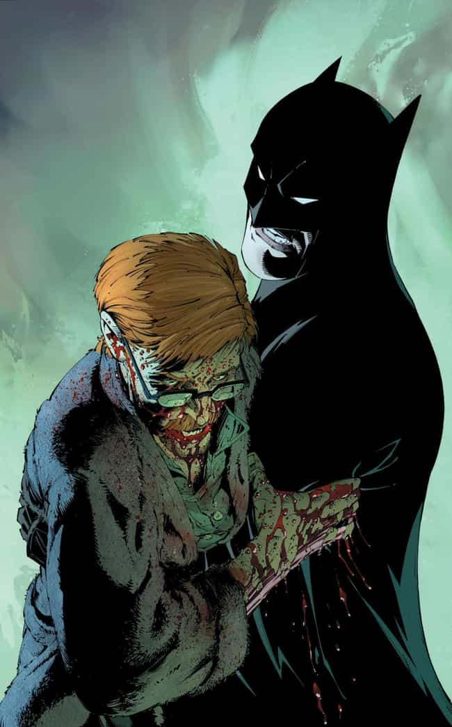 Joker Poisons Gordon With Bloo... is listed (or ranked) 4 on the list The 'Death Of The Family' Joker Comic Book Arc Was One Of The Most Messed Up In Comic Book History