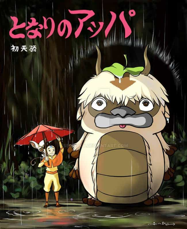 Aang, Appa & Momo is listed (or ranked) 1 on the list 25+ Incredible 'My Neighbor Totoro' Fanart Mashups