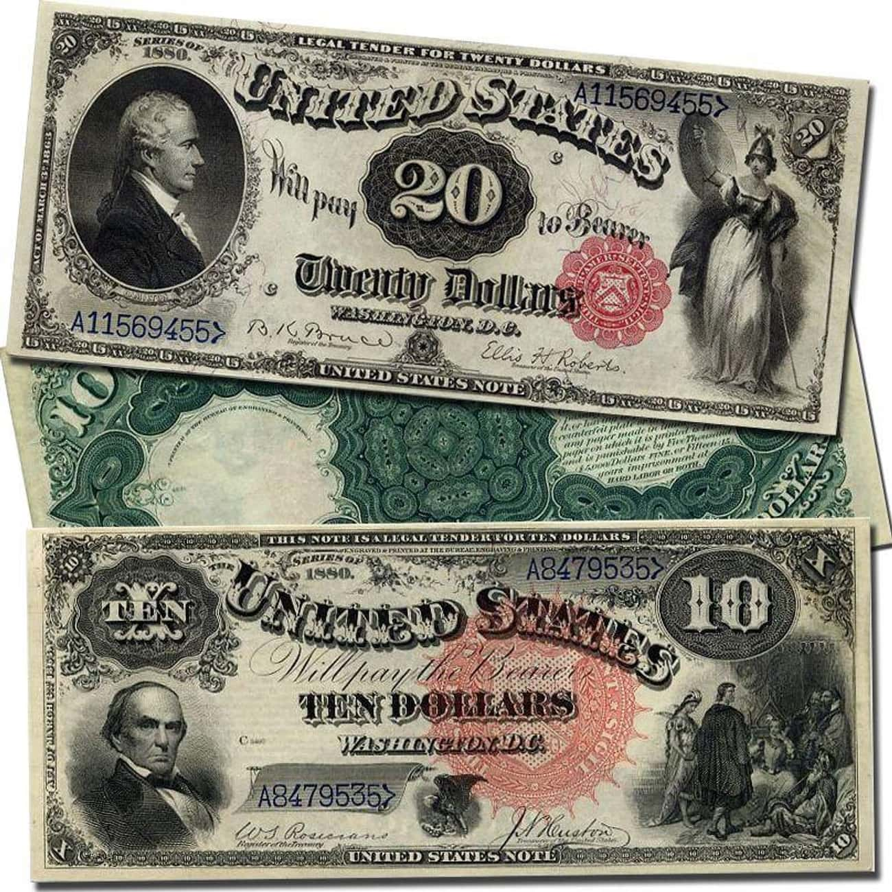1862: United States Notes, Or  is listed (or ranked) 2 on the list All The Currency That Existed In The United States Before The USD