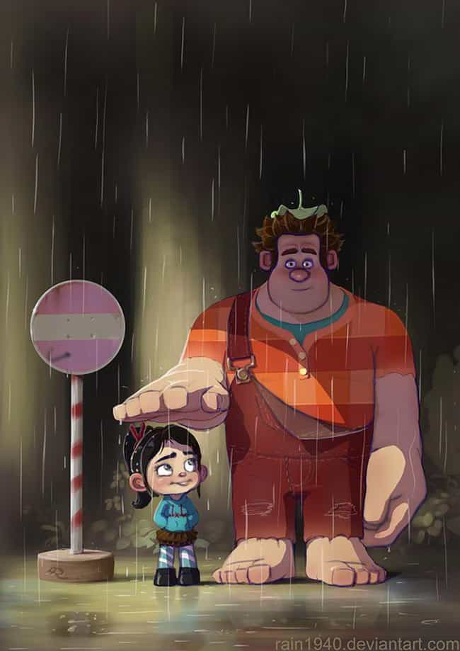 Vanellope von Schweetz & Wreck... is listed (or ranked) 4 on the list 25+ Incredible 'My Neighbor Totoro' Fanart Mashups