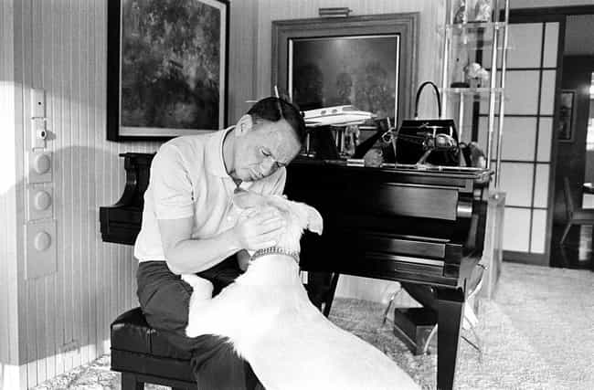 Frank Sinatra With His Dog Rin... is listed (or ranked) 6 on the list 20 Photos Of Old Hollywood Letting Its Hair Down At Its Secret Getaway