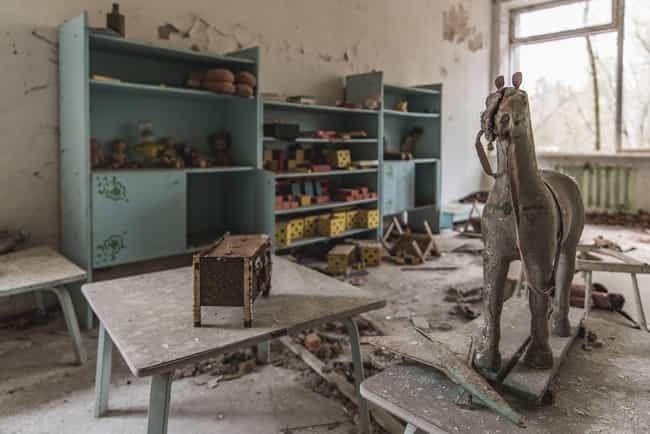 A Child's Playroom is listed (or ranked) 1 on the list The Most Haunting Photos Of Chernobyl Now
