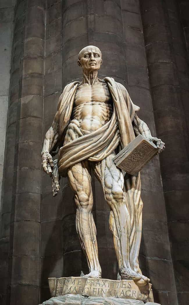 St. Bartholomew's Statue Is Dr... is listed (or ranked) 1 on the list Why Is There A 450-Year-Old Catholic Statue Of A Flayed Saint In The Middle Of Milan?