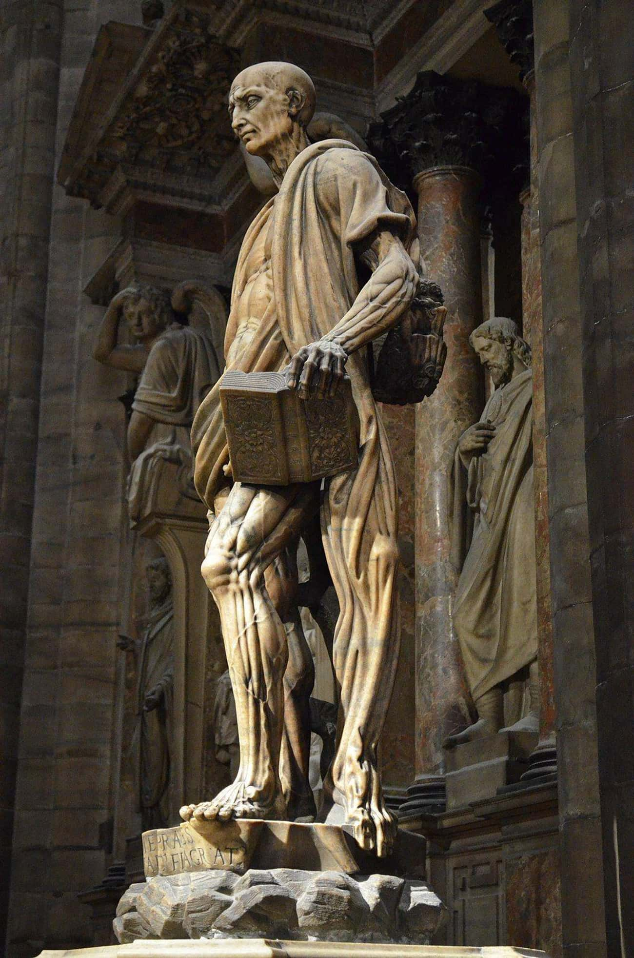 Other Sources Disagree On Bart is listed (or ranked) 4 on the list Why Is There A 450-Year-Old Catholic Statue Of A Flayed Saint In The Middle Of Milan?