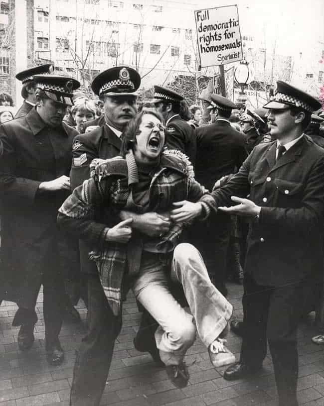 An Activist Demonstrates... is listed (or ranked) 2 on the list Fascinating Photos From The Early Gay Rights Movement