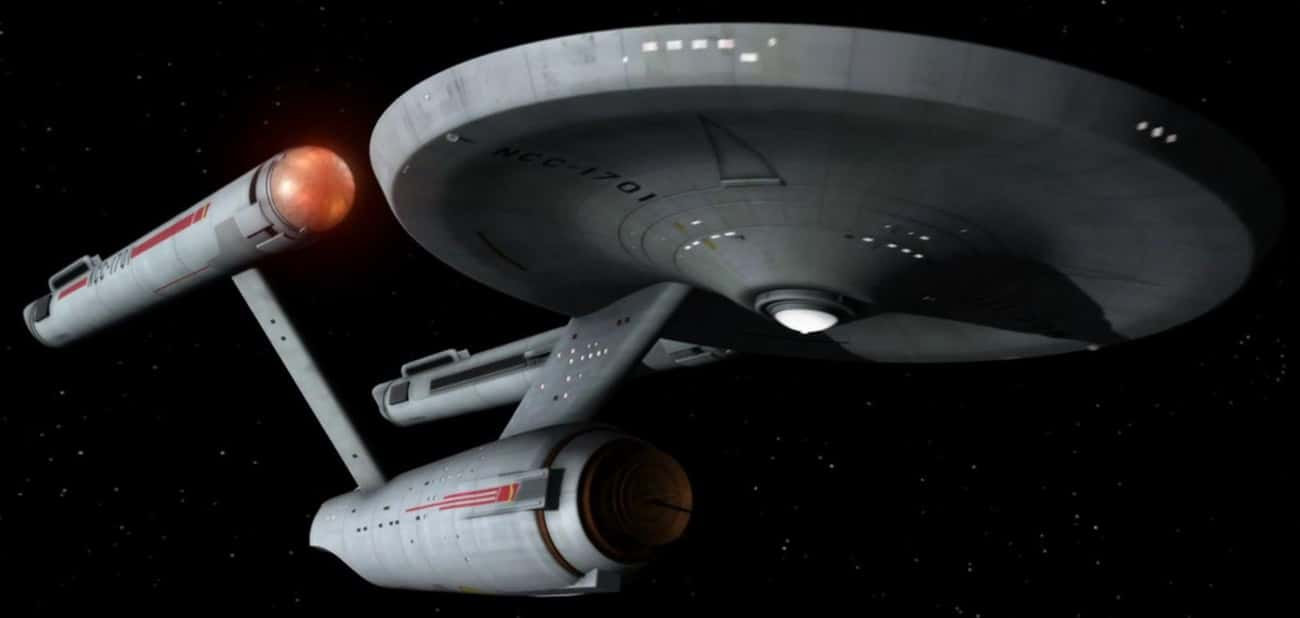 USS Enterprise (NCC-1701) is listed (or ranked) 4 on the list The 19 Coolest Starships In The 'Star Trek' Universe