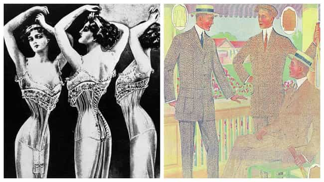 1900s: S-Bend Corset/Three-Pie... is listed (or ranked) 1 on the list What The 'Cool Kids' Wore In Each Decade Since The Start Of The 20th Century