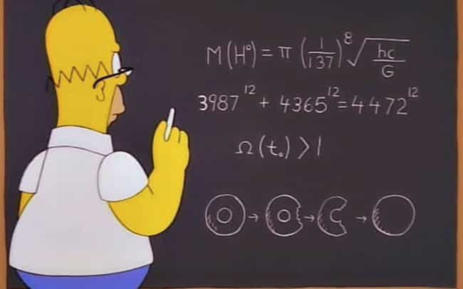Homer Predicts The Mass Of A P... is listed (or ranked) 2 on the list 25 Simpsons Jokes That Actually Came True