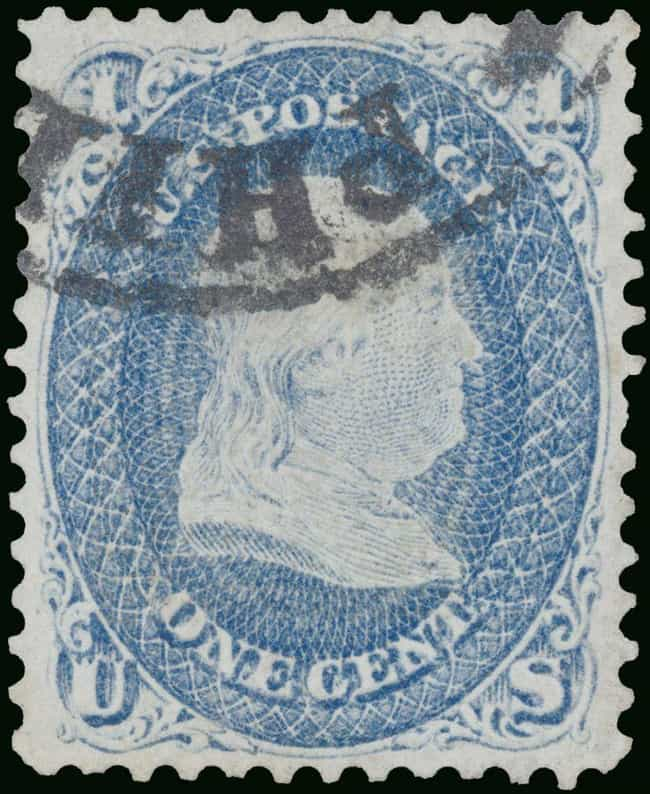 1868 One-Cent Benjamin Frankli... is listed (or ranked) 2 on the list The Most Valuable Stamps In History