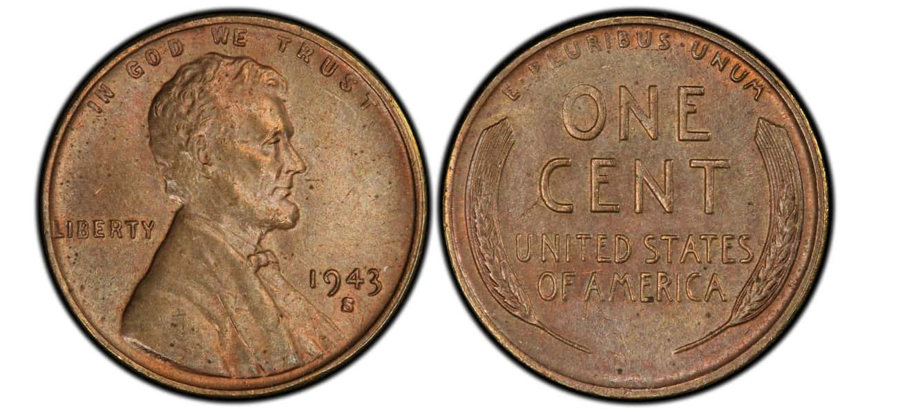 1943-S Copper Lincoln Wheat Pe is listed (or ranked) 1 on the list The Most Valuable Pennies Of All Time