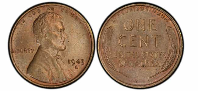 1943-S Copper Lincoln Wheat Pe... is listed (or ranked) 1 on the list The Most Valuable Pennies Of All Time