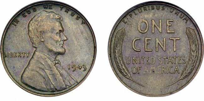 1943 Copper Wheat Penny is listed (or ranked) 4 on the list The Most Valuable Pennies Of All Time