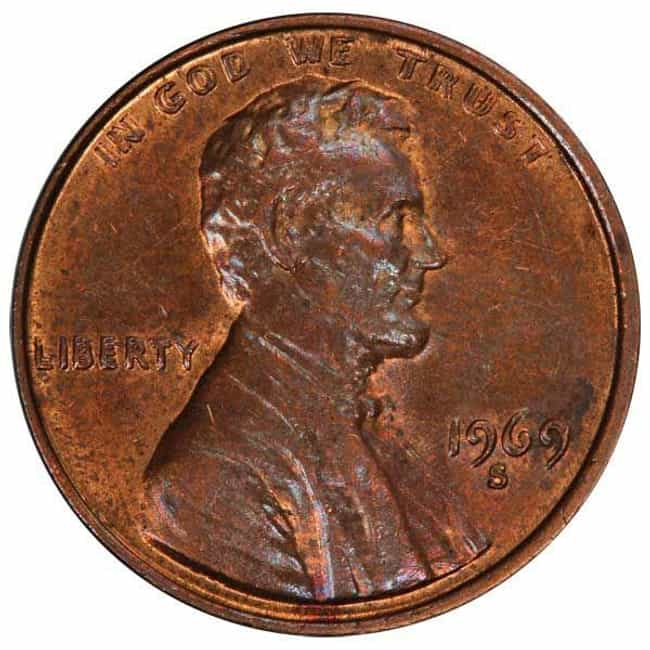 1969-S Doubled Die Penny is listed (or ranked) 3 on the list The Most Valuable Pennies Of All Time