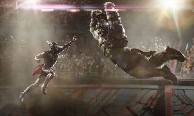 Thor Versus Gladiator Hulk is listed (or ranked) 3 on the list The Best One-On-One Fights In The MCU, Ranked