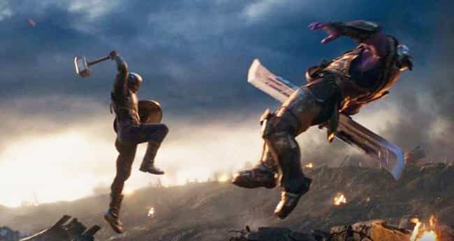 Captain America Versus Thanos is listed (or ranked) 1 on the list The Best One-On-One Fights In The MCU, Ranked